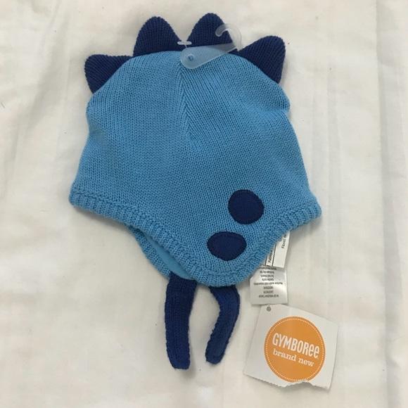 2d510902fd0 Gymboree baby blue dinosaur themed hat 0-3 months